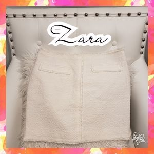 Zara skirt mini cloth small white